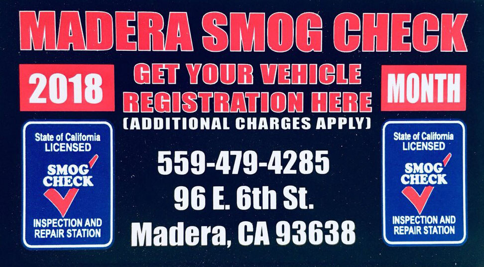 Smog Check Cost >> Madera Smog Check 36 75 Madera Smog Check Call Now